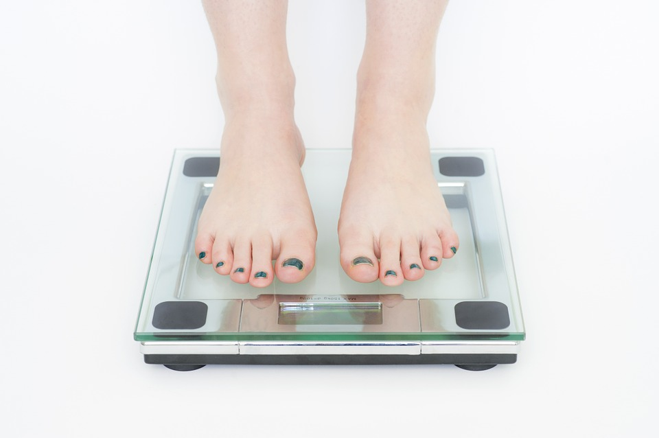 Picture of woman standing on scale